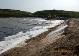T&F geotextielen: Non Woven PROTEC 500 + 800 de Wilp vuilstort